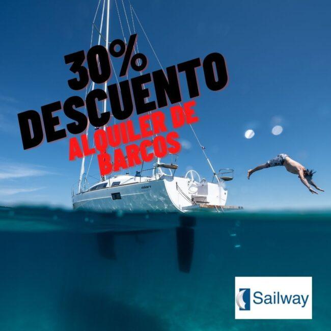 BlackFridayNautico_30%_descuento_alquiler_galicia_Sailway